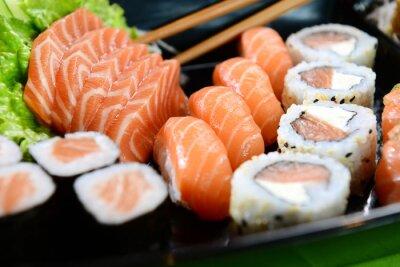 Canvastavlor Japansk mat - Sushi