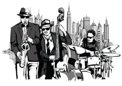 Canvastavlor Jazz band i New-York