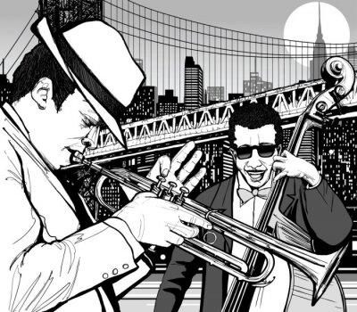 Canvastavlor jazz i New York