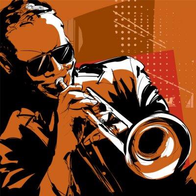 Canvastavlor Jazz trumpet spelare