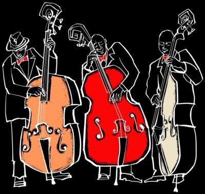 Canvastavlor jazzband