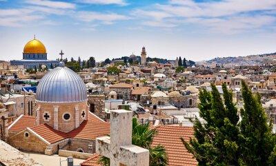 Canvastavlor Jerusalem panoramatak view