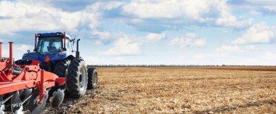 Canvastavlor Jordbruksmaskiner arbetar på fältet