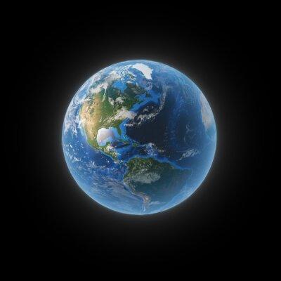 Canvastavlor Jorden från rymden visar Nord- och Sydamerika