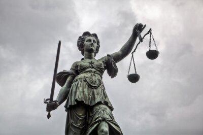 Canvastavlor Justitia Staty i Frankfurt am Main
