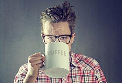 Canvastavlor kaffe Junkie