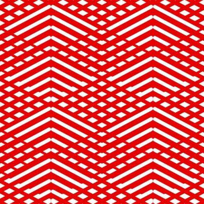 Canvastavlor Kakel rött och vitt mönster eller vektor bakgrundsbild