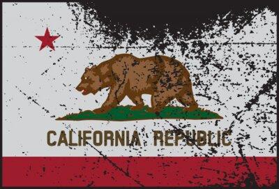Canvastavlor Kalifornien sjunker Grunged