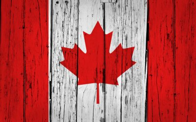 Canvastavlor Kanada sjunker Grunge Bakgrund