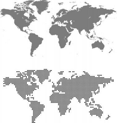 Canvastavlor karta över världen