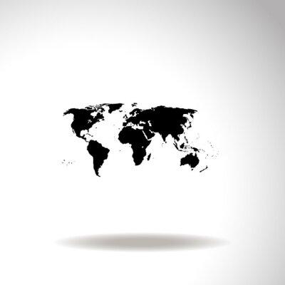 Canvastavlor Karta över världen vektor ikon.