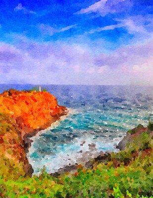 Canvastavlor kauai fyr