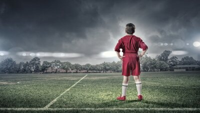 Canvastavlor kid pojke på fotbollsplan