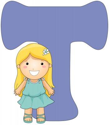 Canvastavlor kiddie Alphabet