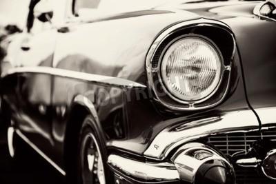 Canvastavlor Klassisk bil med närbild på strålkastare