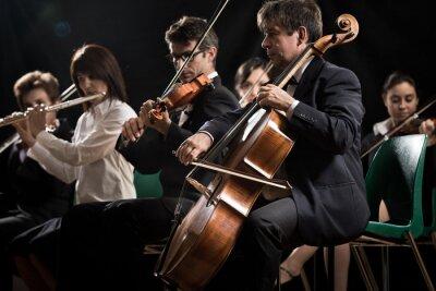 Canvastavlor Klassisk musik konsert: symfoniorkester på scen