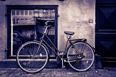 Canvastavlor Klassisk retro stad cykel i Köpenhamn, Danmark