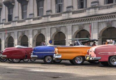 Canvastavlor Klassiska amerikanska bilar i Havanna, Kuba