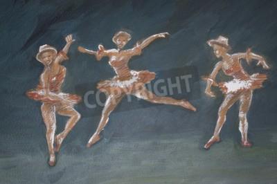 Canvastavlor klassiska kvinnliga balettdansörer konstillustration