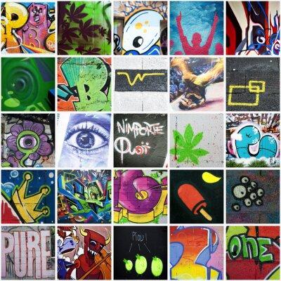 Canvastavlor Komposition graffitikonst urbain