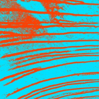 Canvastavlor Konsistens blå vägg med blodiga röda fläckar. Vektor illustration.