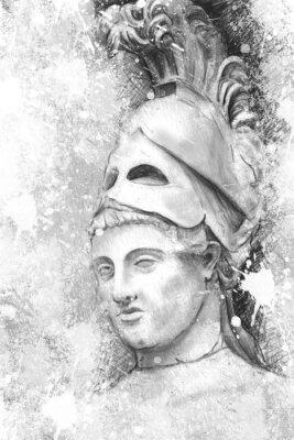 Canvastavlor Konstnärlig porträtt av Perikles med texturerad bakgrund, classica