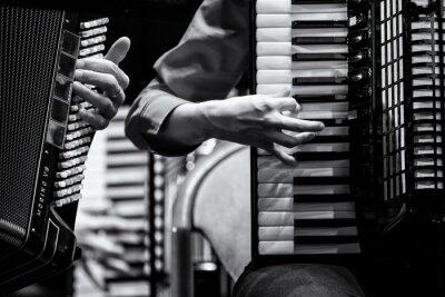 Canvastavlor Konzert Handharmonika Club, Akkordeon Orchester, specificerar