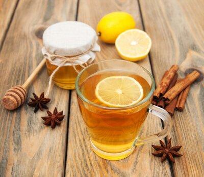 Canvastavlor Kopp te med honung