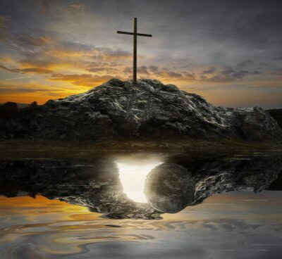 Canvastavlor Kors och tomma graven