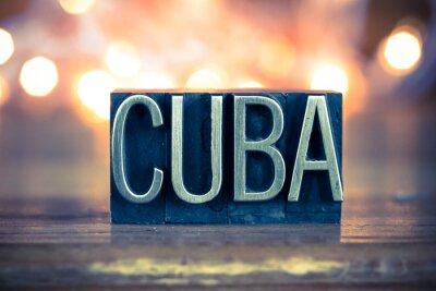 Canvastavlor Kuba Concept Metal boktryck Type