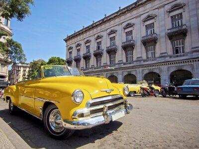 Canvastavlor Kuba, Havanna med vintage