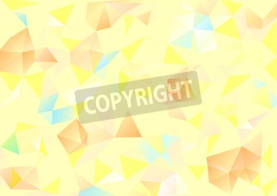 Canvastavlor Kubismen bakgrund Pale gult och orange blå