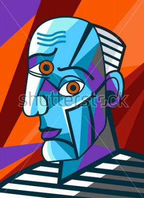 Canvastavlor kubistisk stormålare ansikte porträtt målning