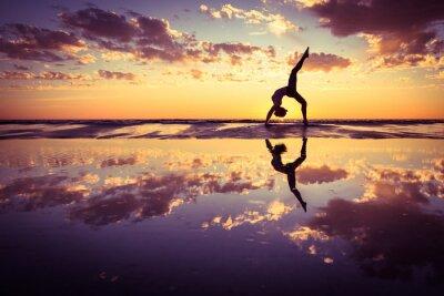 Canvastavlor kvinna yoga