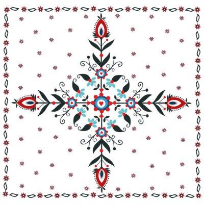 Canvastavlor Kwiatowy wzór Ludowy