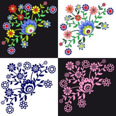 Canvastavlor kwieciste wzory Ludowe
