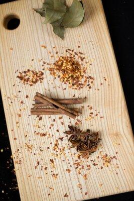 Canvastavlor lagerblad, krydda