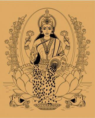 Canvastavlor lakshmi