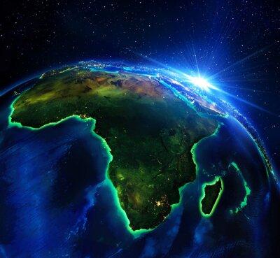 Canvastavlor landareal i Afrika, natten