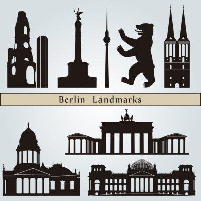 Canvastavlor landmärken och monument Berlin