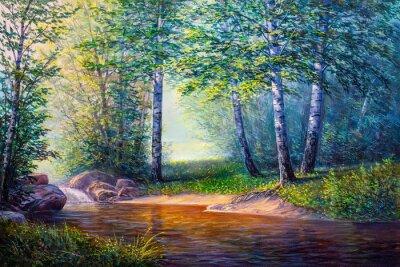 Canvastavlor landskapsmålning av vattenfall