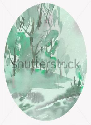 Canvastavlor landskapsvattenfärg