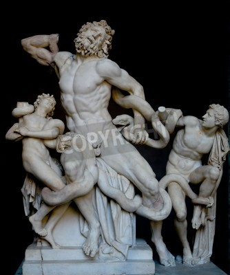 Canvastavlor Laokoongruppen, känd klassisk grekisk staty