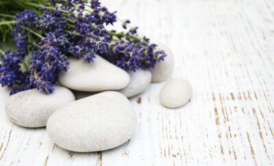 Canvastavlor lavendel spa