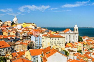 Canvastavlor Lissabon centrum, Portugal