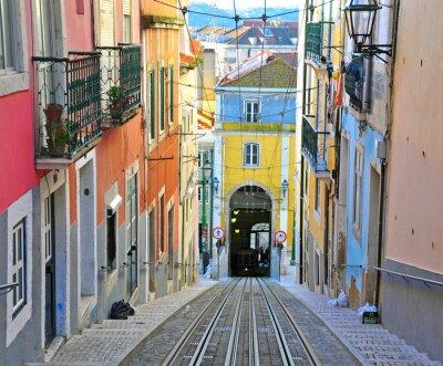 Canvastavlor Lissabon linbana Bica