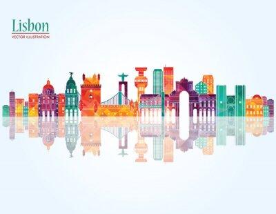 Canvastavlor Lissabon skyline. vektor
