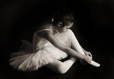 Canvastavlor Liten balettdansös