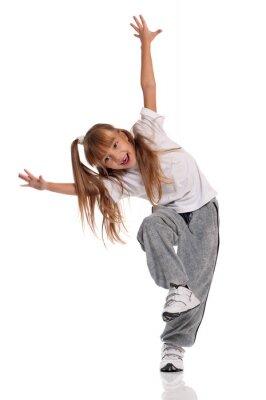 Canvastavlor Liten flicka dansa
