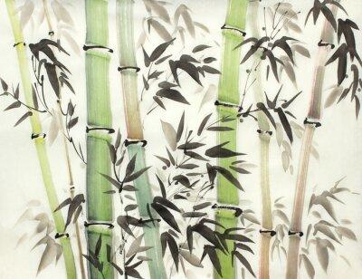 Canvastavlor ljus bambuskog